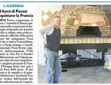 Forni Pavesi Rimini sul Resto del Carlino