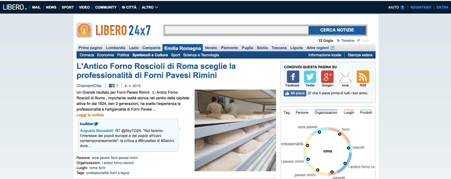 Forni Pavesi Rimini a Roma